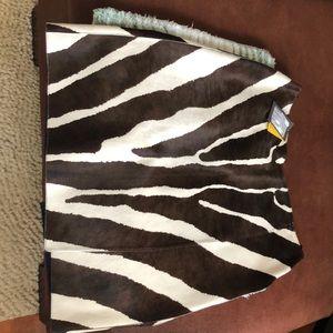 Brown /white zebra skirt